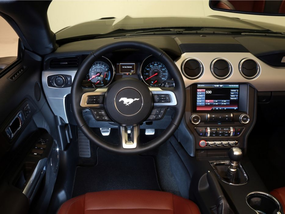 2014 Ford Mustang G T Convertible Muscle Interior F Wallpaper