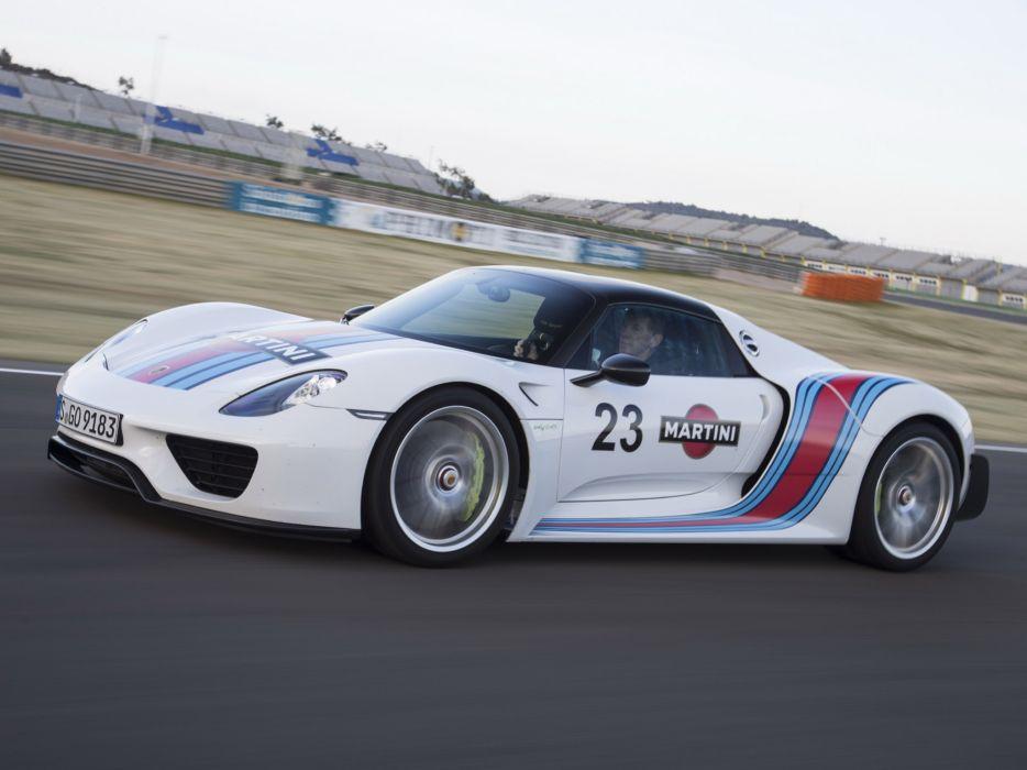 2014 Porsche 918 Spyder Weissach Package Martini Racing Race Supercar D Wallpaper