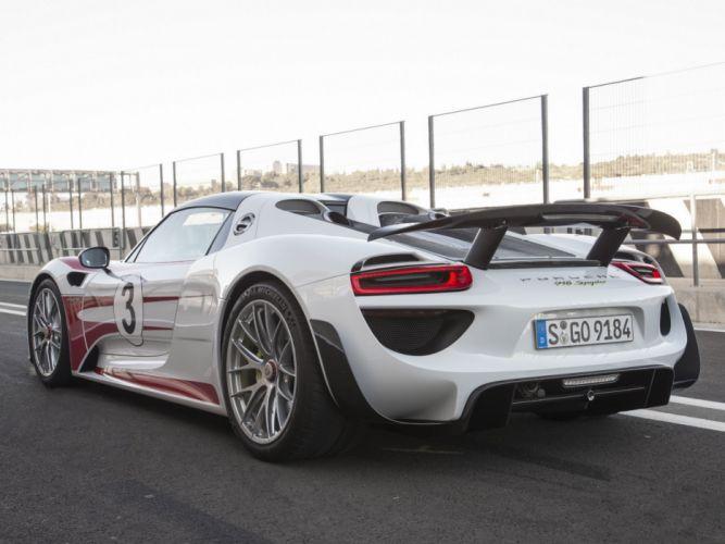 2014 Porsche 918 Spyder Weissach race racing f wallpaper