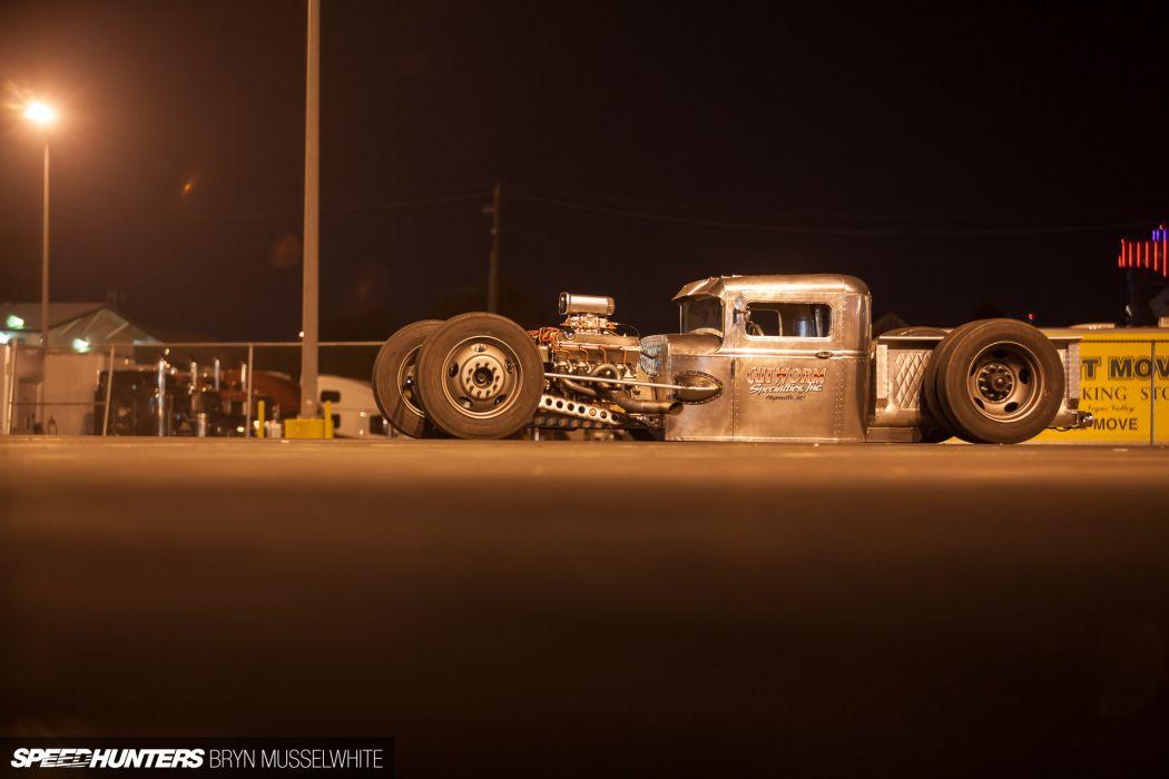Ford Model-A rat rod rods hot custom retro engine truck       g wallpaper