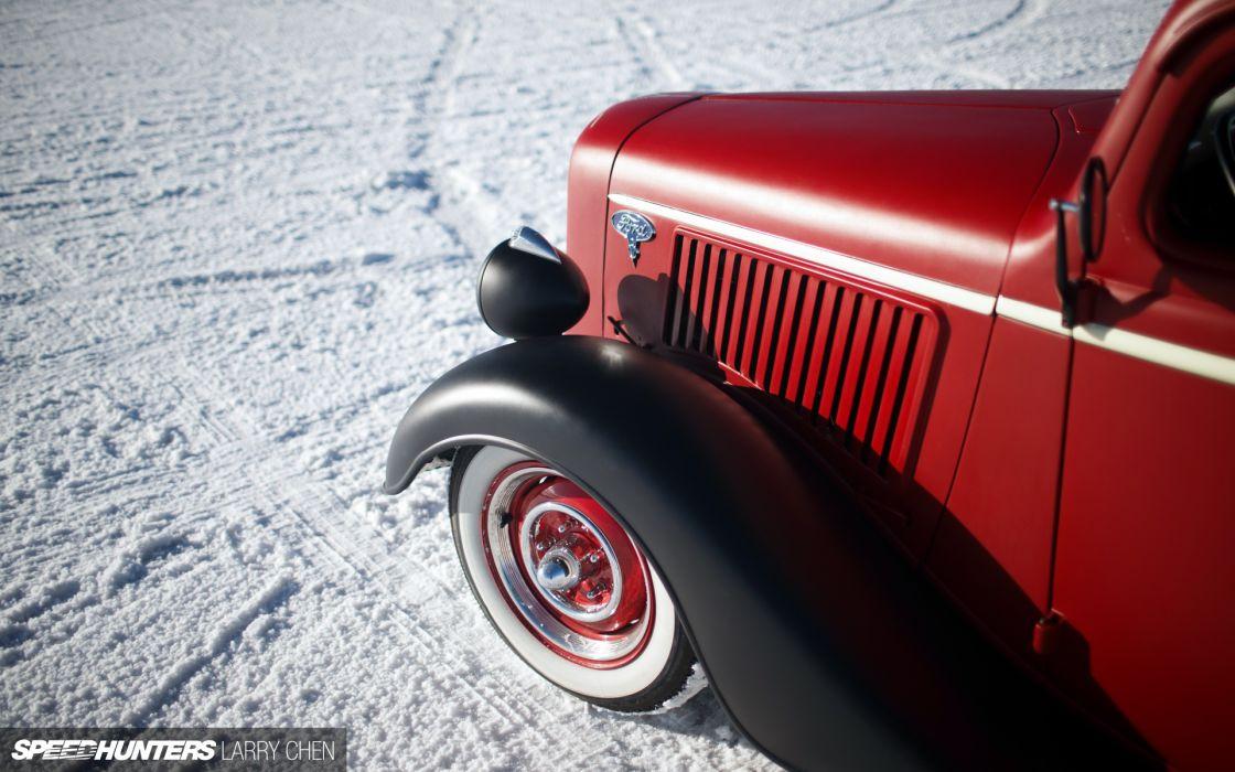 1936 Ford Pickup hot rod rods lowrider retro custom wheel  g wallpaper