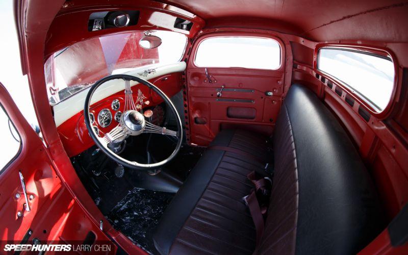 1936 Ford Pickup hot rod rods lowrider retro custom interior g wallpaper