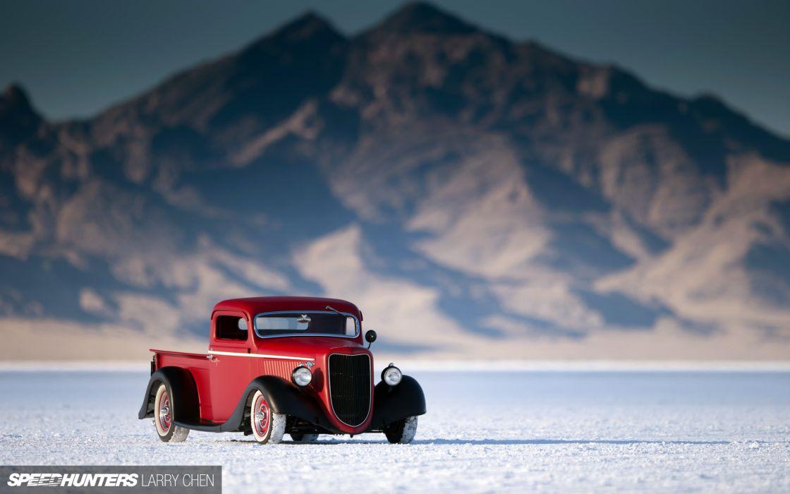 1936 Ford Pickup hot rod rods lowrider retro custom      g wallpaper