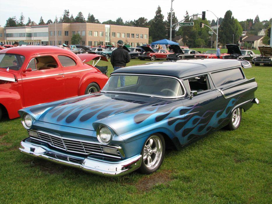 1957 Ford Ranch Wagon wallpaper