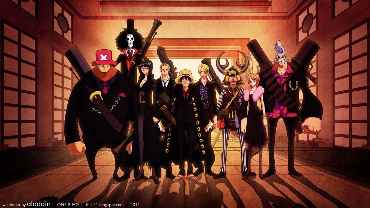 One Piece (anime) Nico Robin Roronoa Zoro chopper Brook (One Piece) Monkey D Luffy Nami (One Piece) Ussop wallpaper