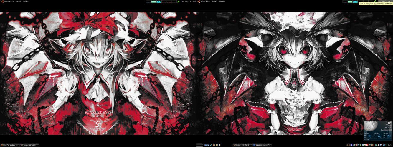 Touhou vampires Flandre Scarlet Remilia Scarlet games Banpai Akira wallpaper