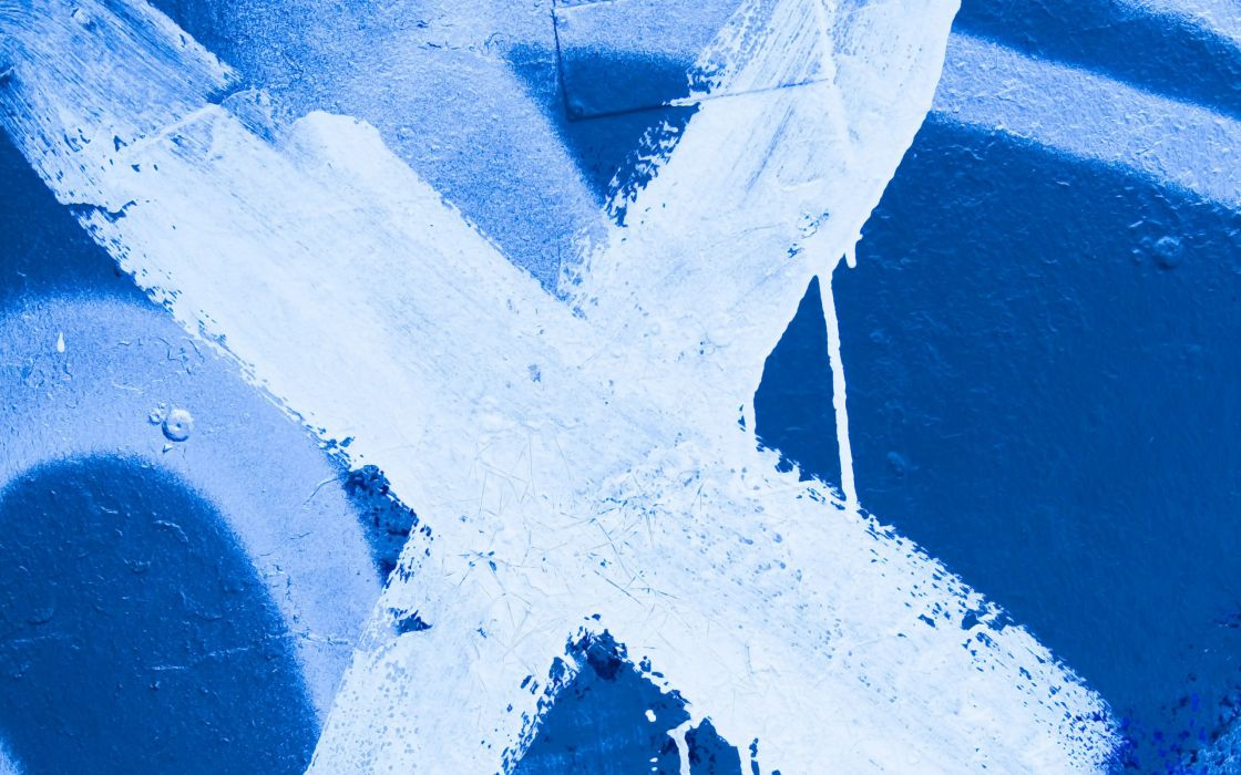 abstract blue cross white metal paint textures wallpaper
