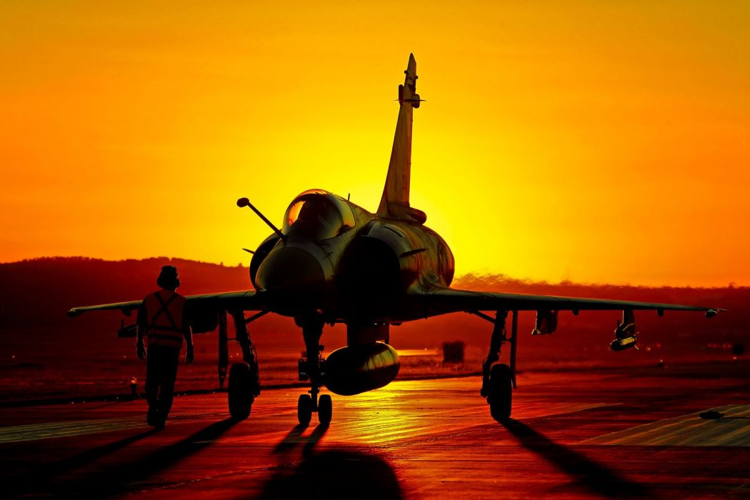 clouds aircraft mirage 2000 air force fighter jets skies wallpaper