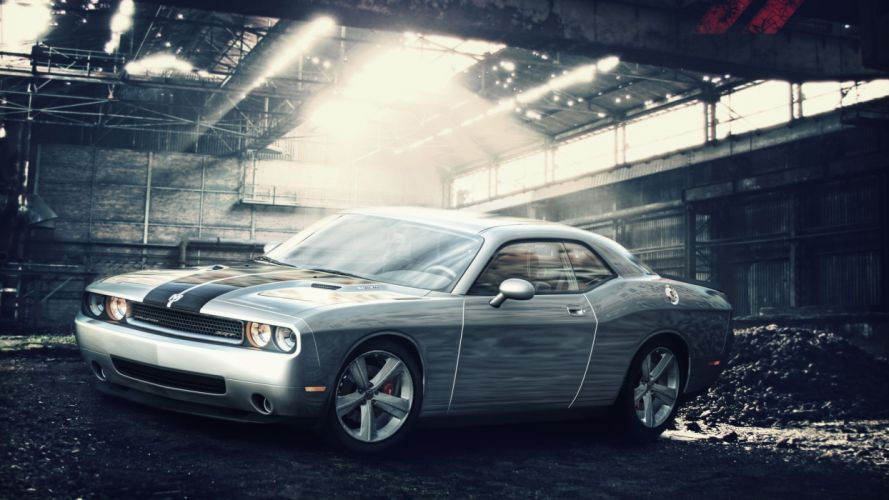 cars vehicles wheels Dodge Challenger SRT races racing cars speed automobiles wallpaper