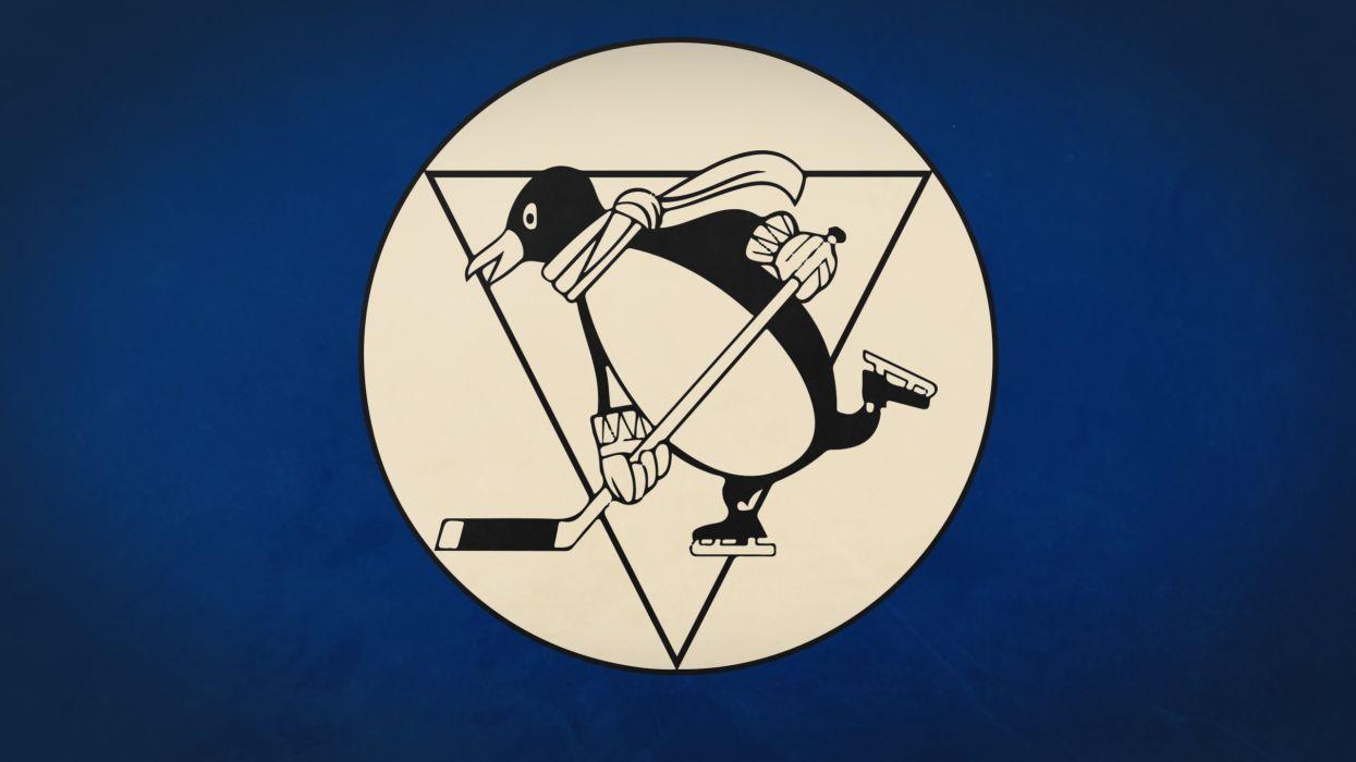 minimalistic sports team hockey NHL logos Pittsburgh Penguins simple wallpaper