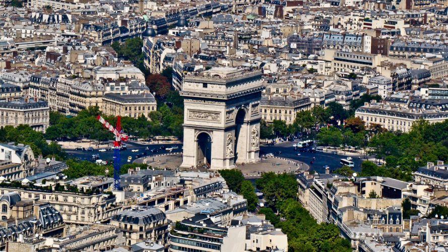 Paris cityscapes Arc De Triomphe cities wallpaper