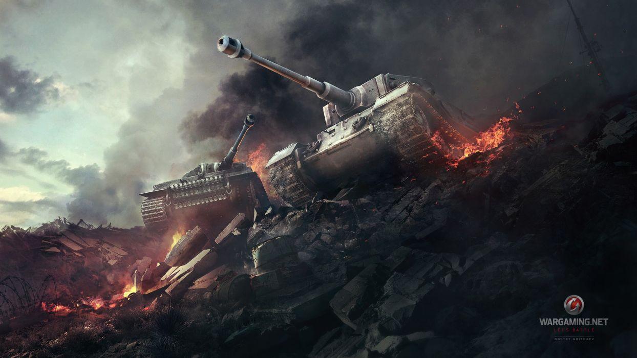war tanks artwork Tiger tanks World of Tanks wallpaper
