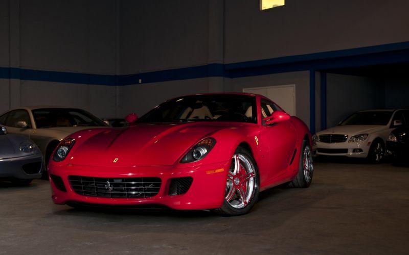 red cars Ferrari vehicles Ferrari 599 wallpaper