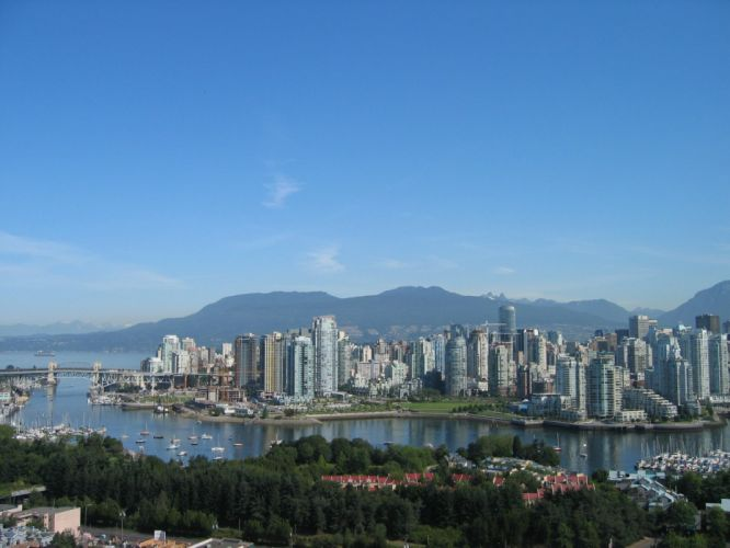 mountains cityscapes downtown Vancouver wallpaper