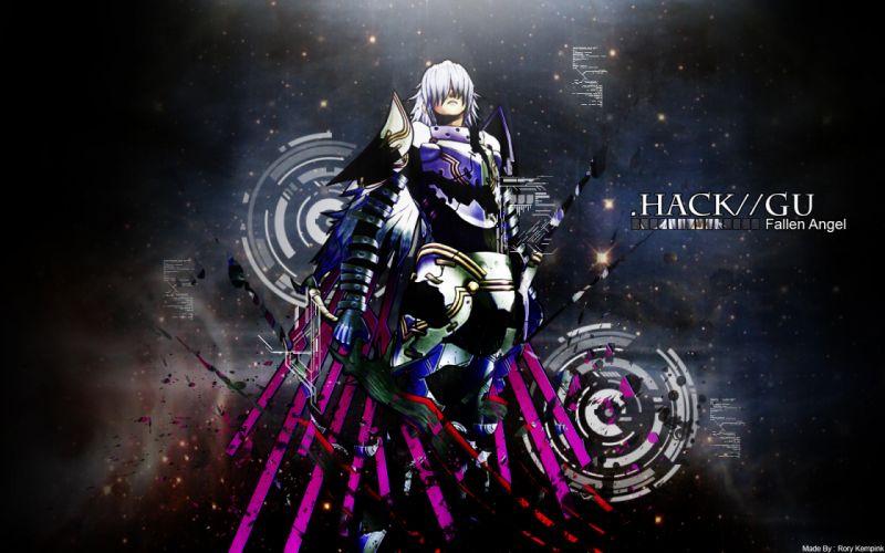 Fallen Angel armor _hack white hair _hack//GU wallpaper