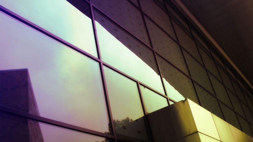 nuclear glass architecture window buildings glow modern reflections wallpaper