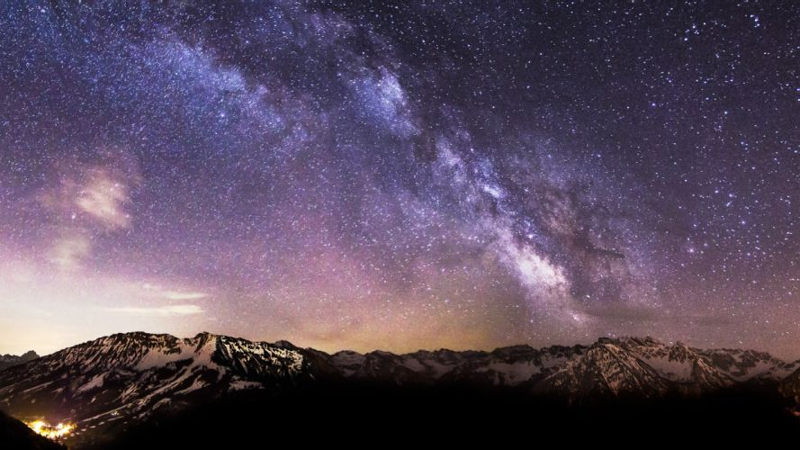nature stars Germany Milky Way skyscapes wallpaper