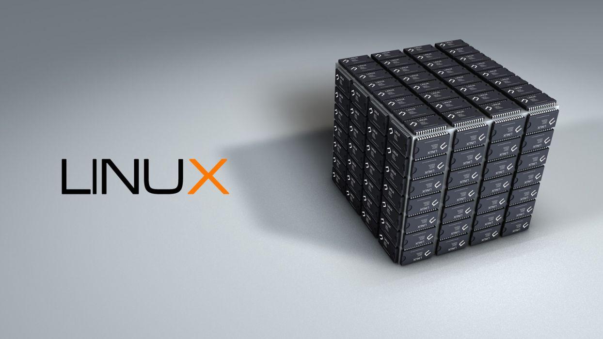 Linux cubes wallpaper