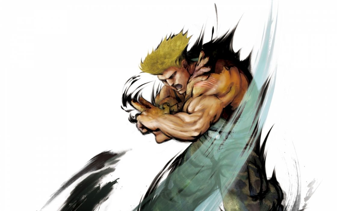 Street Fighter animation Guile game wallpaper