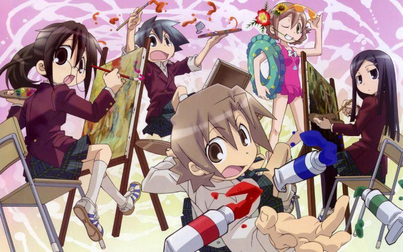 paintings glasses meganekko anime girls wallpaper