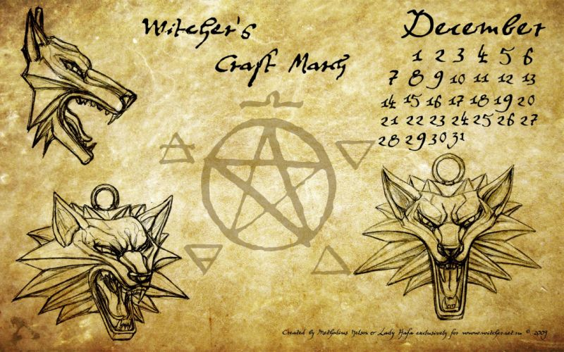 The Witcher artwork December medalion wallpaper