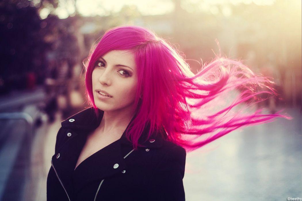 women pink pink hair models wallpaper