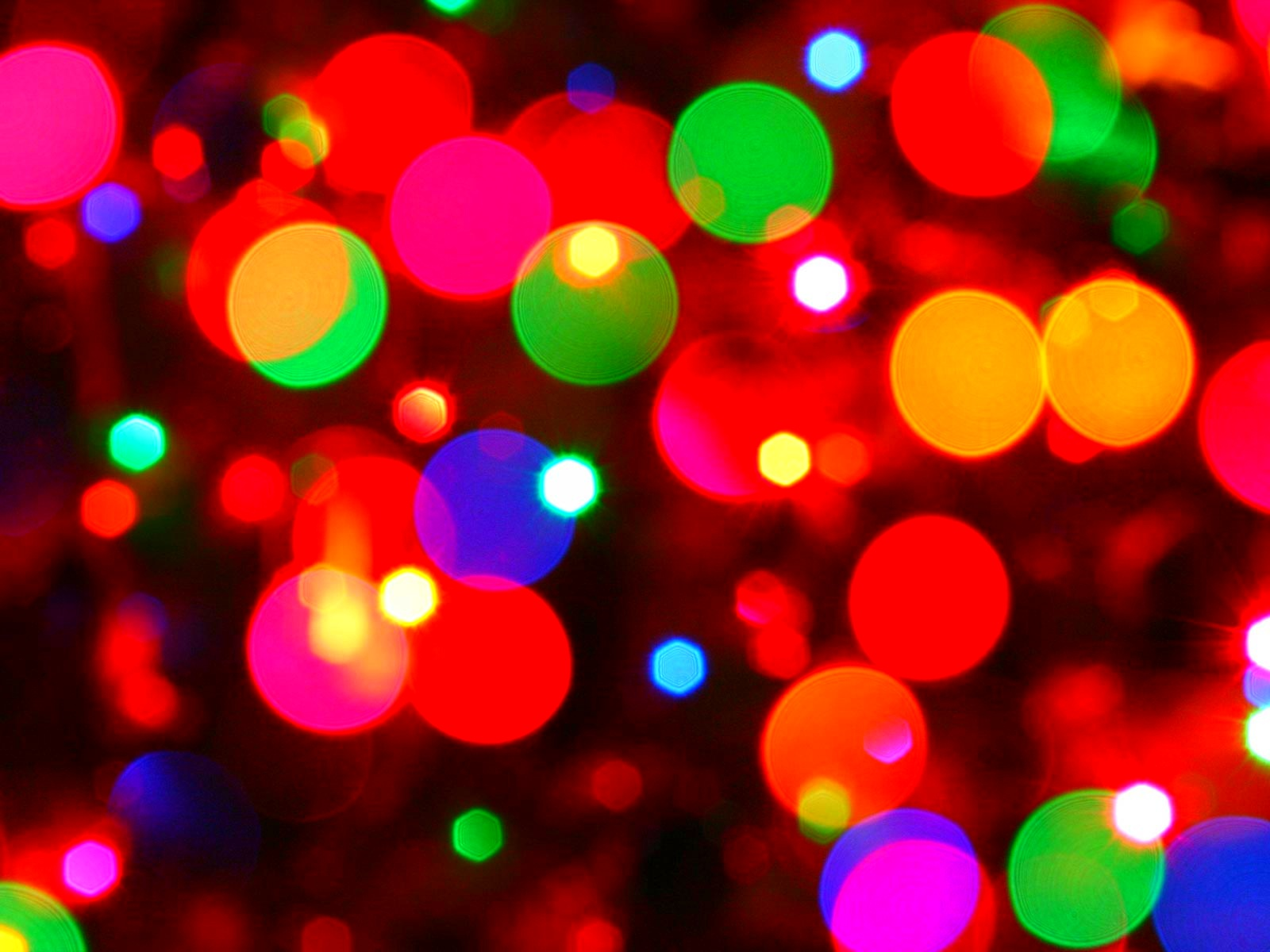 Lights Christmas Bokeh Wallpaper