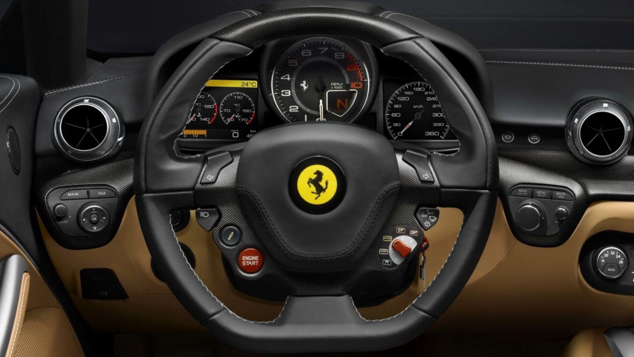 cars dashboards Ferrari F12 Berlinetta supercar wallpaper