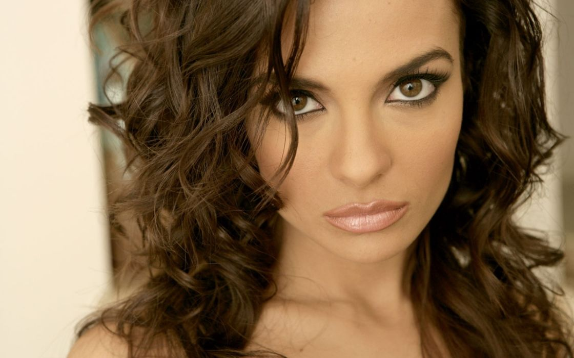 brunettes women close-up eyes brown eyes faces Krista Ayne wallpaper