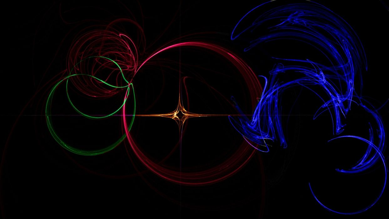 abstract multicolor waves circles digital art backgrounds colors wallpaper