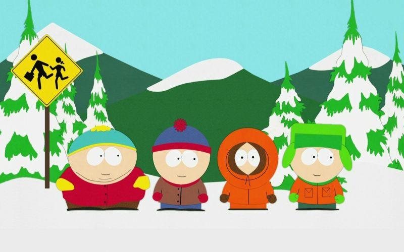 South Park Eric Cartman Stan Marsh Kenny McCormick Kyle Broflovski wallpaper