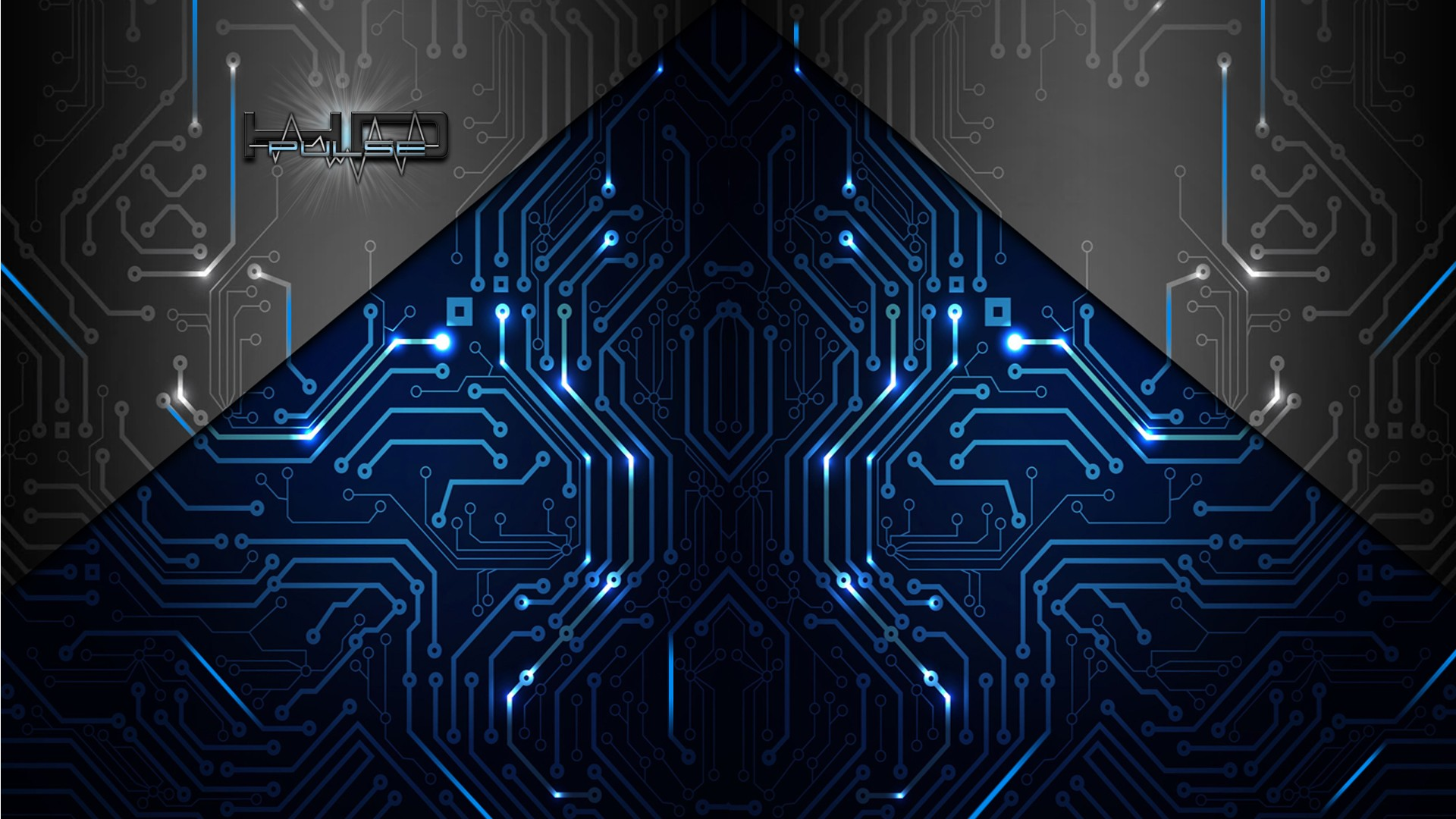 abstract artistic electronics circuit board wallpaper