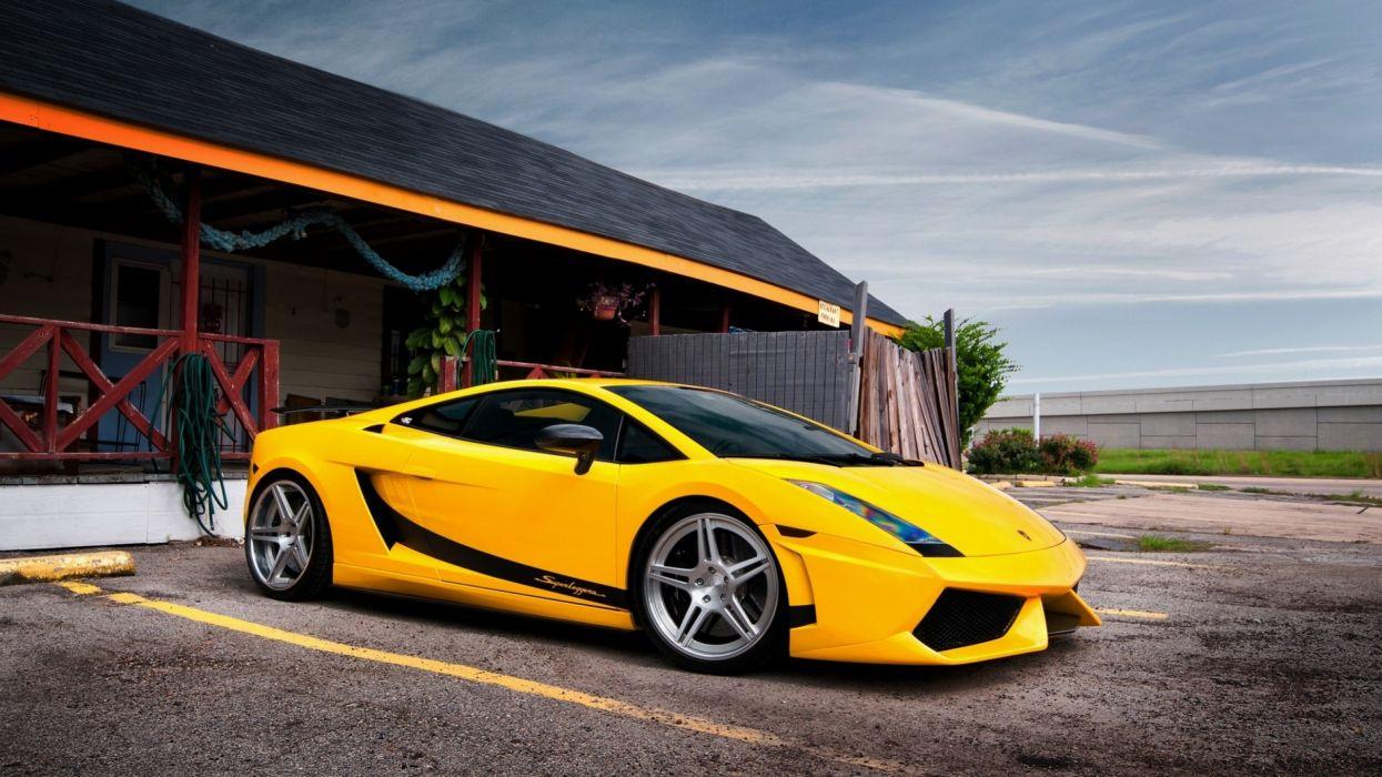 cars Lamborghini Lamborghini Gallardo yellow cars Lamborghini Gallardo Superleggera wallpaper