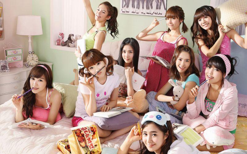 women Girls Generation SNSD celebrity Asians wallpaper