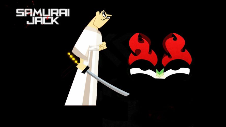 samurai Samurai Jack swords black background wallpaper