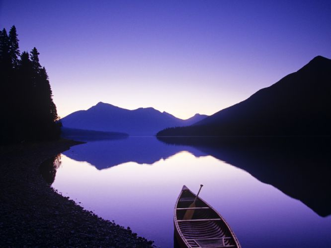 mountains landscapes trees boats lakes wallpaper