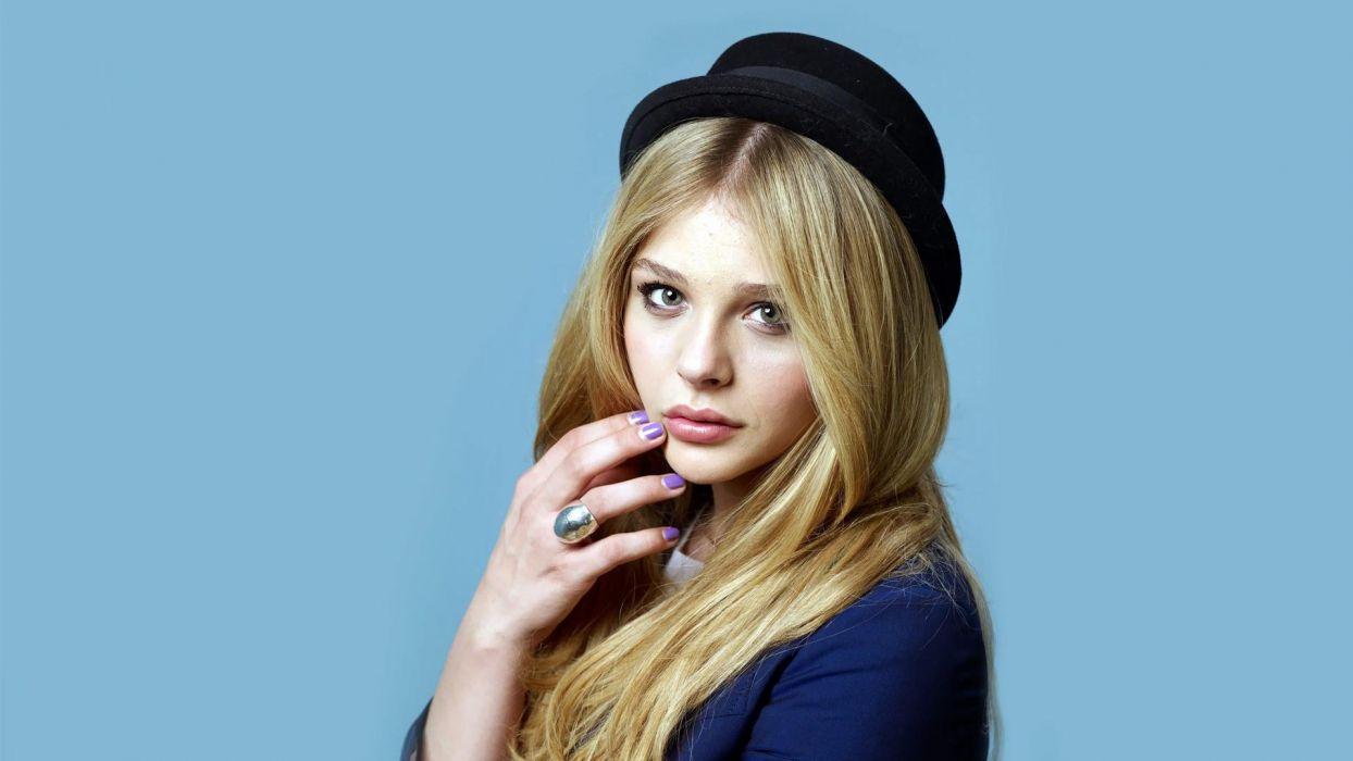 blondes women actress Chloe Moretz hats wallpaper