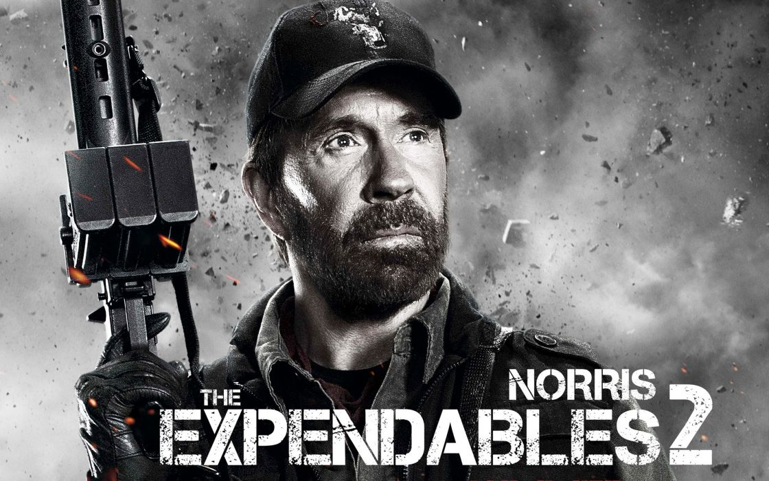 movies Chuck Norris The Expendables awesomeness The Expendables 2 wallpaper