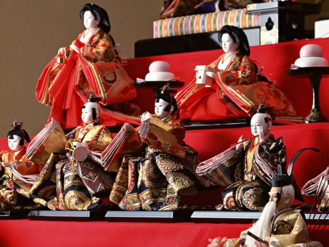 Japan toys (children) japan views Japanese traditions Hinamatsuri wallpaper