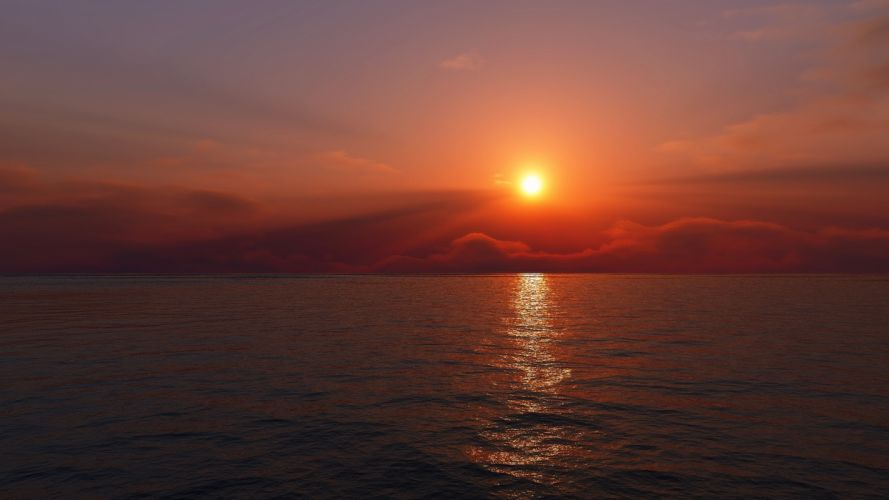 sunrise Sun morning wallpaper