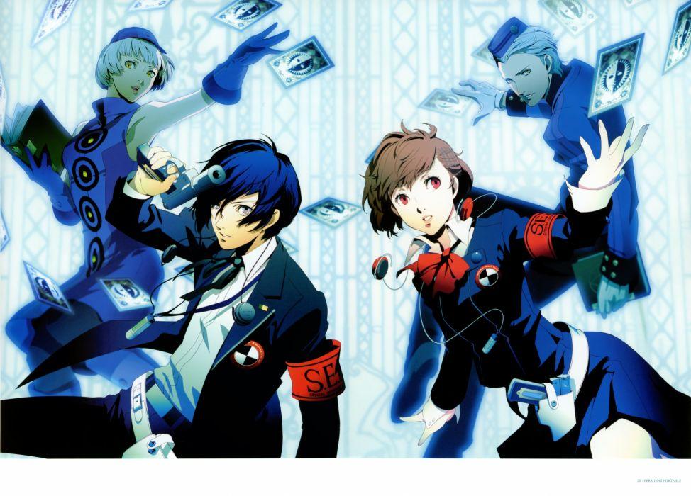 Persona series Persona 3 Arisato Minato Elizabeth (Persona 3) Female Protagonist (Persona 3) Theodore (Persona 3 Portable) Soejima Shigenori wallpaper