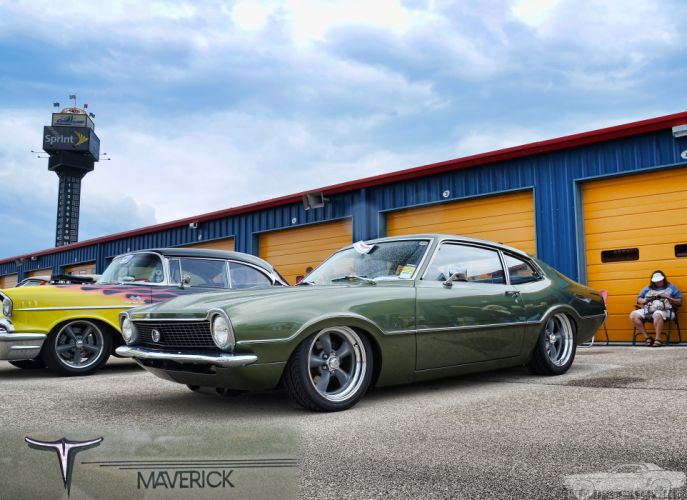 FORD MAVERICK muscle classic hot rod rods g1 wallpaper
