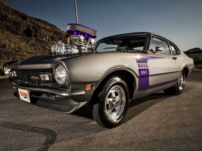 FORD MAVERICK muscle classic hot rod rods drag racing race engine g wallpaper