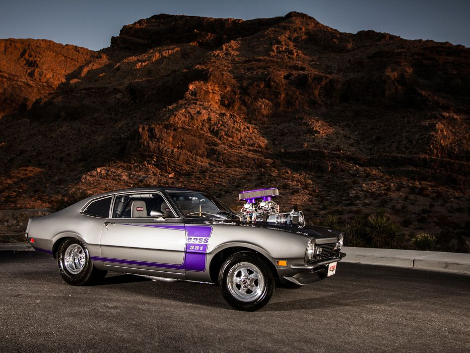 FORD MAVERICK muscle classic hot rod rods engine blower   ge wallpaper
