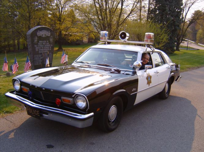 FORD MAVERICK muscle classic police emergency f_JPG wallpaper
