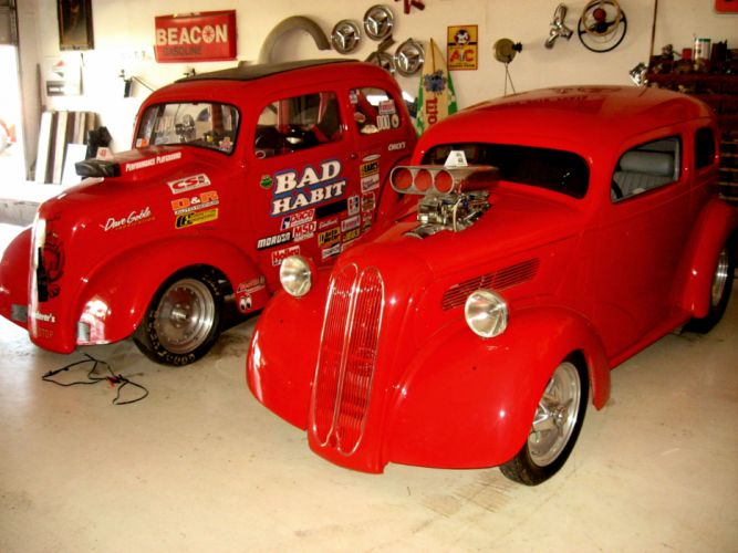 FORD ANGLIA retro hot rod rods drag racing race gasser ge wallpaper