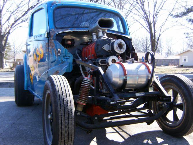 FORD ANGLIA retro hot rod rods drag racing race gasser engine blower e wallpaper