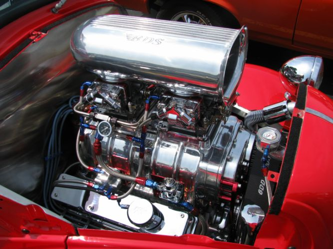 FORD ANGLIA retro hot rod rods engine blower g wallpaper