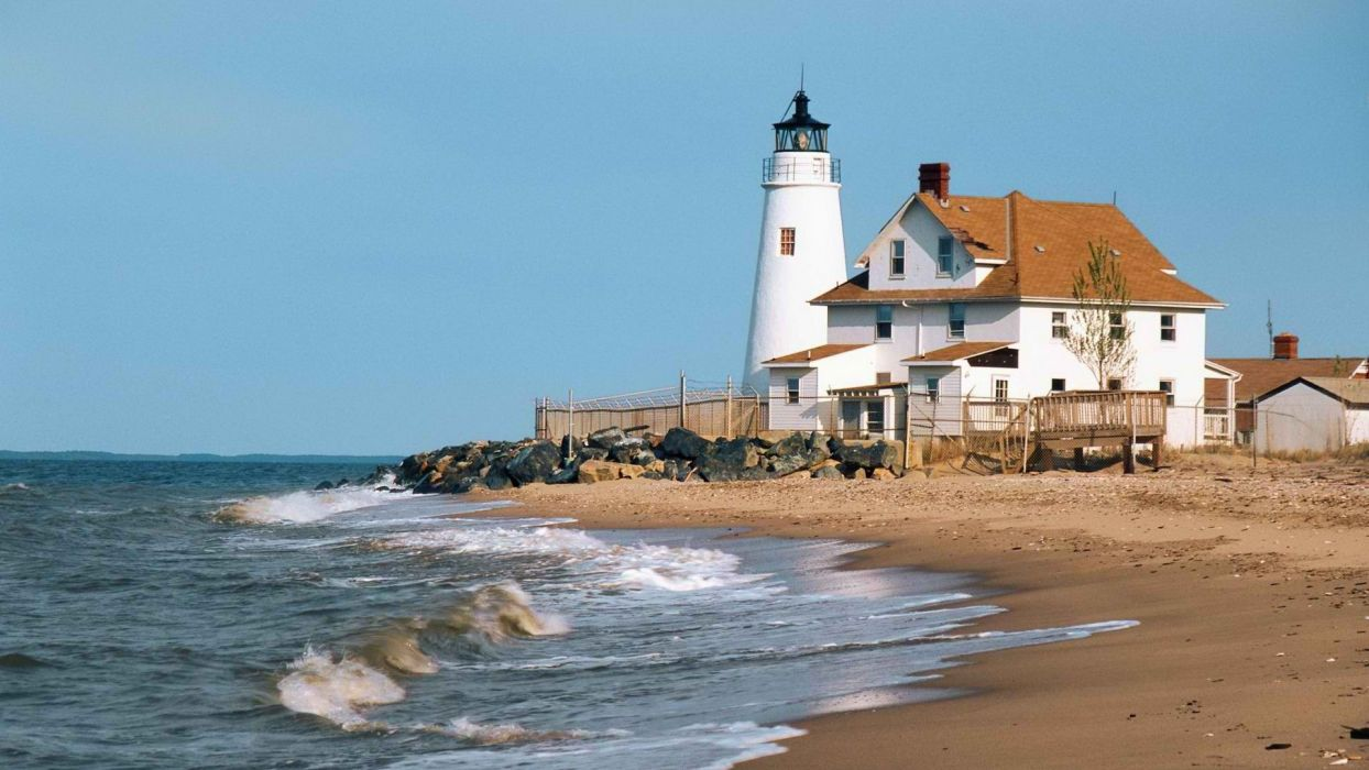 point lighthouses beaches wallpaper