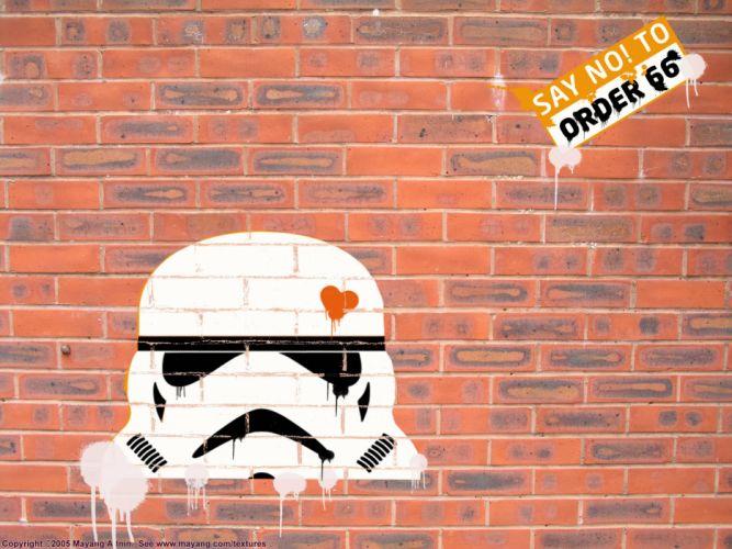 Star Wars stormtroopers bricks brick wall wallpaper